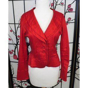 Clara Sun Woo S Red Jacket Shawl Collar